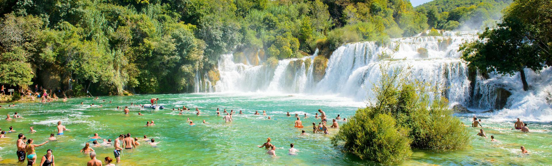 slapovi u nacionalnom parku Krka