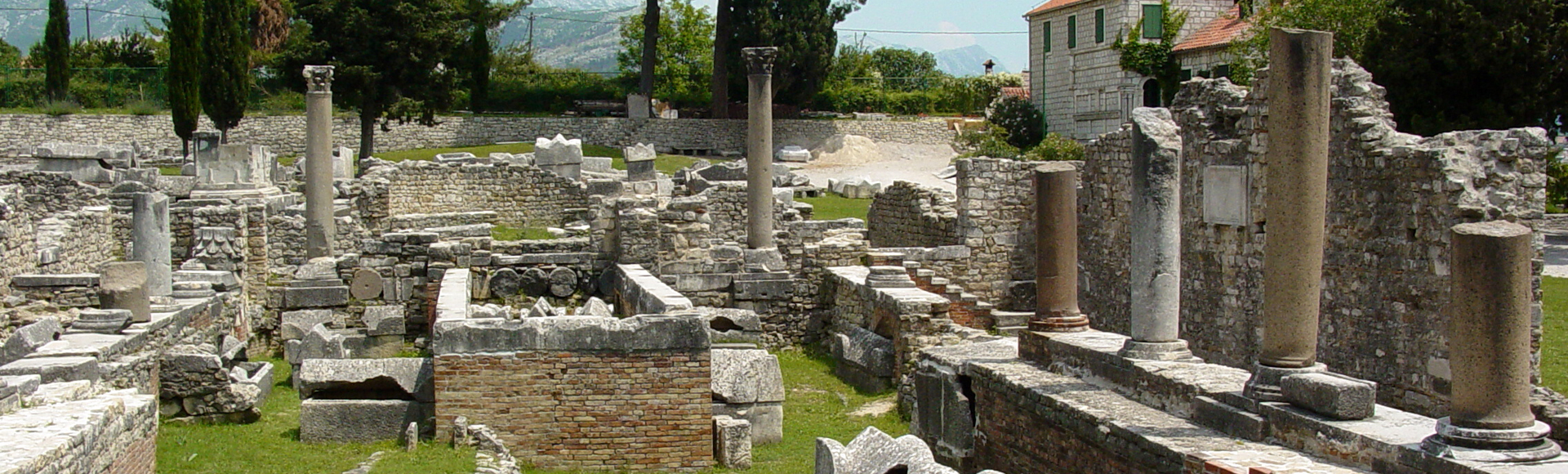 The remains of the ancient city of Salona